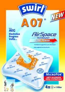 4  Staubsaugerbeutel Swirl A07 für AEG-Electrolux Vampyr Croma