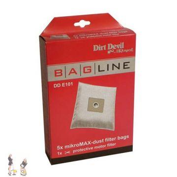 dirt devil bagline staubsaugerbeutel typ dd e101. Black Bedroom Furniture Sets. Home Design Ideas